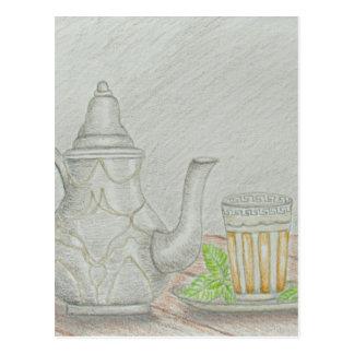 tea with mint postcard