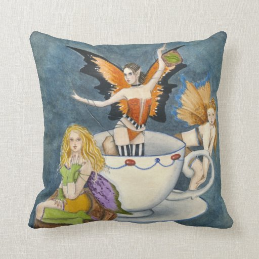 Tea with Strumpets American MoJo Pillow