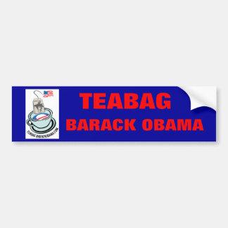 Teabag Barack Obama bumper sticker Car Bumper Sticker