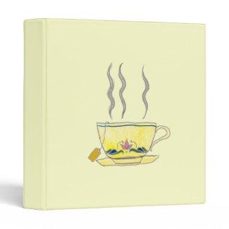 teabag in a teacup binder
