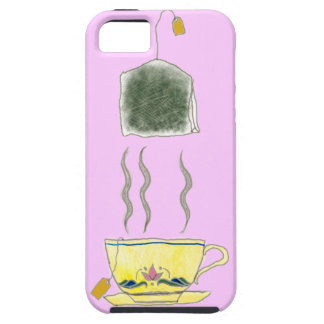 teabag in a teacup iPhone SE/5/5s case