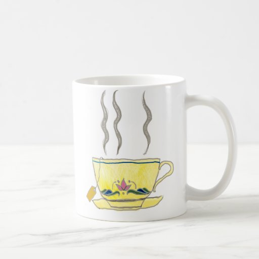 teabag in a teacup coffee mugs
