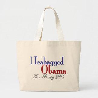 Teabag Obama (Tea Party 2009) Canvas Bag