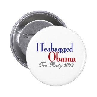 Teabag Obama (Tea Party 2009) Pinback Buttons