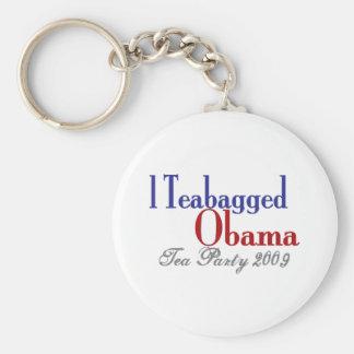 Teabag Obama (Tea Party 2009) Keychain