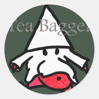 teabagger classic round sticker