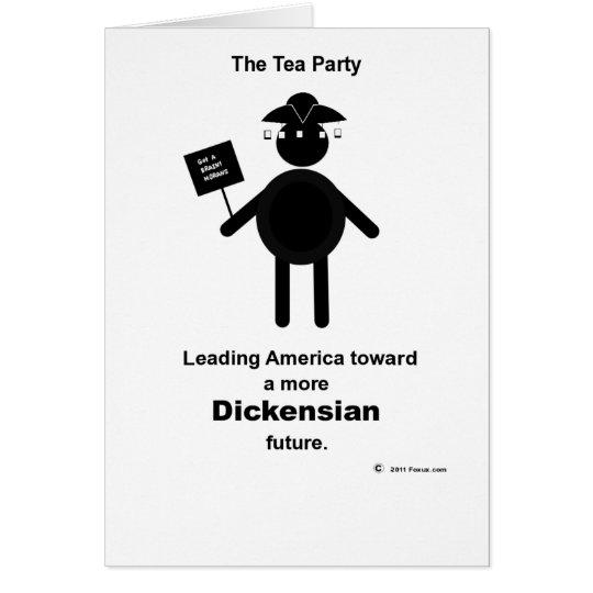 Teabagger Dickensian Card