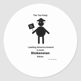 Teabagger Dickensian Classic Round Sticker