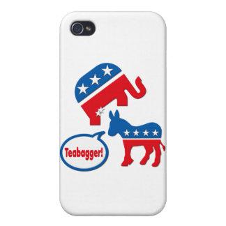 Teabagger Republican Democrat Tea Party Politics iPhone 4 Cases