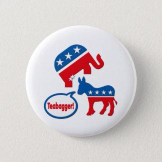 Teabagger Republican Democrat Tea Party Politics Pinback Button