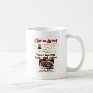 Teabagger Smell the Coffee. Classic White Coffee Mug