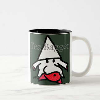 Teabagger Taza De Café De Dos Colores