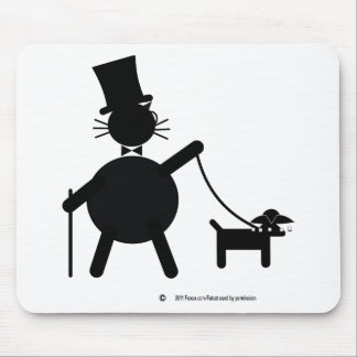 Teabagger the dog mouse pad