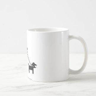 Teabagger the dog classic white coffee mug