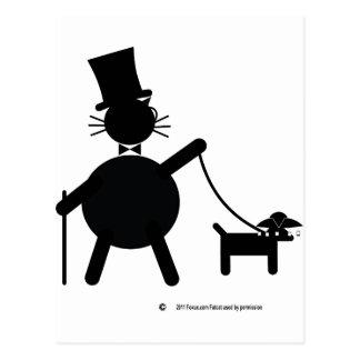 Teabagger the dog postcard