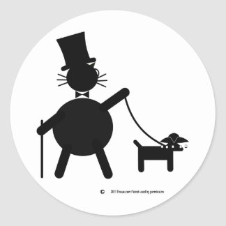 Teabagger the dog classic round sticker