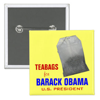 Teabags for Obama Pin