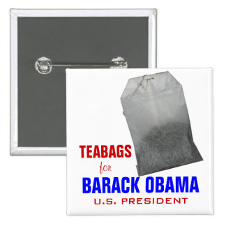 Teabags for Obama Pinback Buttons