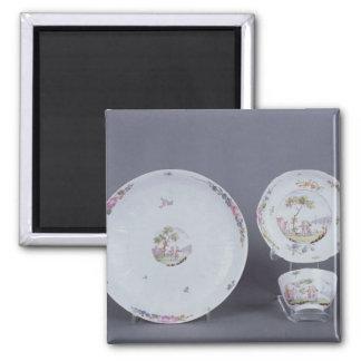 Teabowl de Worcester y platillo y plato Imanes Para Frigoríficos
