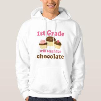 Teach 1st Grade For Chocolate Hoodie