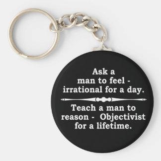 Teach a man... keychain