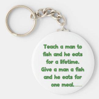 Teach A Man To Fish Basic Round Button Keychain