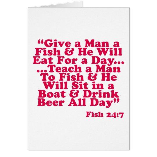 Teach a Man To Fish Card