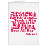 Teach a Man To Fish Greeting Cards