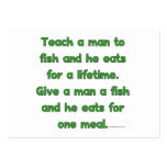 Teach A Man To Fish Large Business Cards (Pack Of 100)