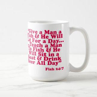 Teach a Man To Fish Classic White Coffee Mug
