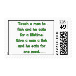 Teach A Man To Fish Postage Stamps