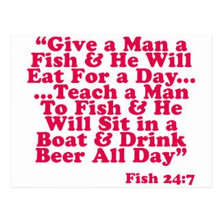 Teach a Man To Fish Postcard