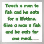 Teach A Man To Fish Poster