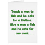 Teach A Man To Fish Stationery Note Card