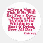 Teach a Man To Fish Sticker