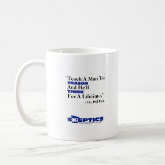 Teach a man to reason... coffee mug