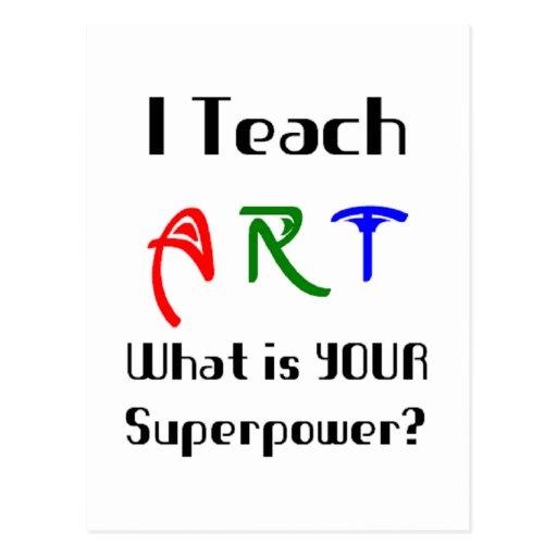 Teach art postcard