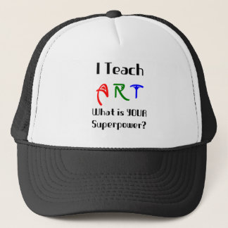 Teach art trucker hat