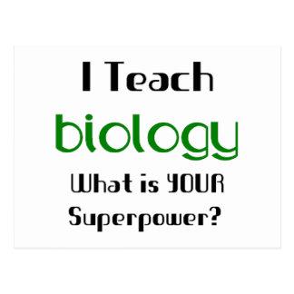 Teach Biology Postcard
