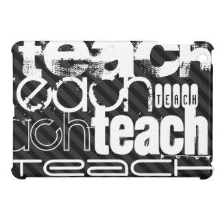 Teach; Black & Dark Gray Stripes Cover For The iPad Mini