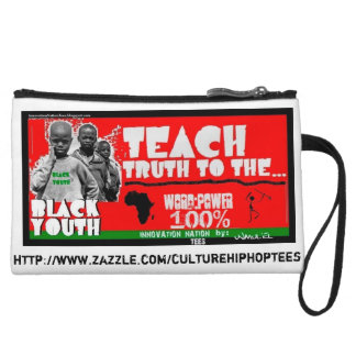 Teach Black Youth Truth cell phone pouch Wristlet Wallet