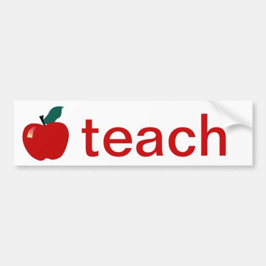 Teach Bumper Sticker