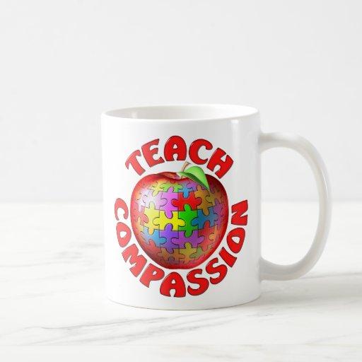 Teach Compassion Classic White Coffee Mug