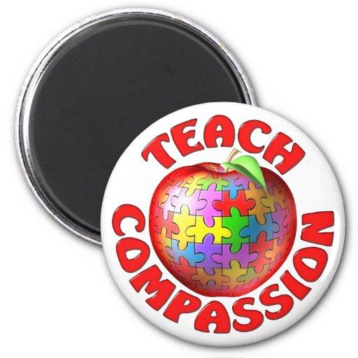 Teach Compassion Fridge Magnets