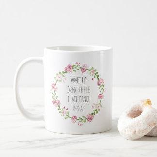Teach Dance Floral Wreath Coffee Mug