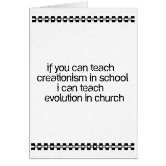 Teach Evolution In Church Card