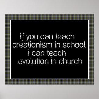 Teach Evolution In Church Posters