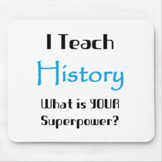 Teach history mouse pad