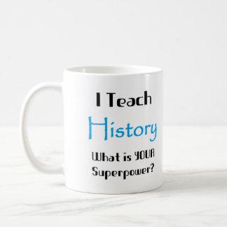 Teach history classic white coffee mug