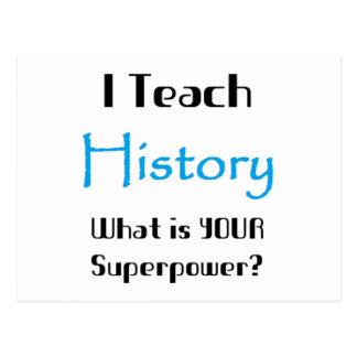 Teach history postcard